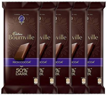 Cadbury Rich Cocoa Bournville, 80g (Pack of 5) Bars