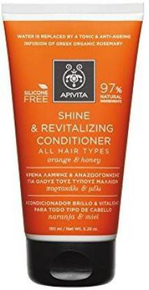 Apivita 6 X Shine And Revitalizing Conditioner For All Hair Types With Honey And Orange (New Product, Released In 2017) 6 Tubes X 150Ml/5.1Oz Each One