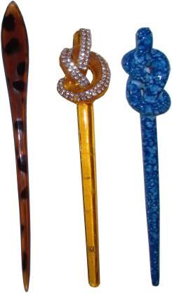 Anuradha Art jewellery Combo of Multi Color Juda Sticks Bun Stick