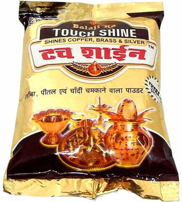 Waltzer India Touch Shine Shining Powder For Six Metals (Copper,Brass,Aluminium,Iron ,Silver & Steel) Instant Cleaner Polish,Anti-Tarnish,Shines 50gm Pack of 10 Dishwashing Detergent