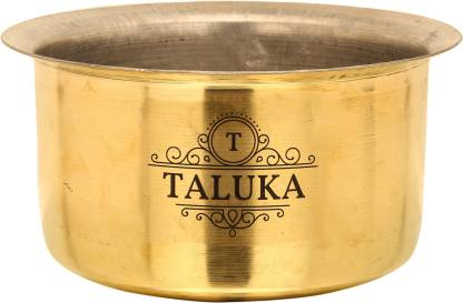 "TALUKA (9"" x 5"" inches) Pure Brass Made Tope Topia/Patila with Nickel Plating Capacity :- 3200 ML High Quality Good Value Best Price Brass Tope Tope"
