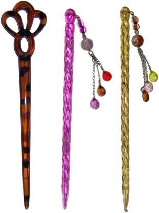 EASELIFE Premium Combo of Multi Color Juda Sticks Bun Stick