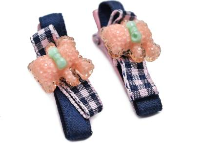 Jewelz Pink And Green Barret Clips For Kids Hair Clip