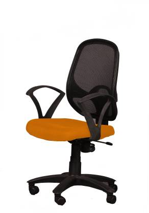 Ks chairs Fabric Office Arm Chair   Orange  Ks chairs Office Study Chairs
