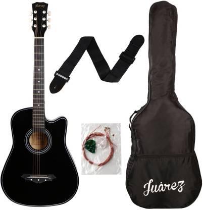 Juarez JRZ38C/BK Acoustic Guitar Linden Wood Ebony Right Hand Orientation