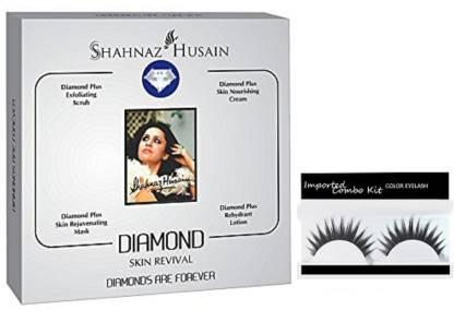 Imported Combo Kit Of Eyelashes With Shahnaz Husain Diamond Facial Kit