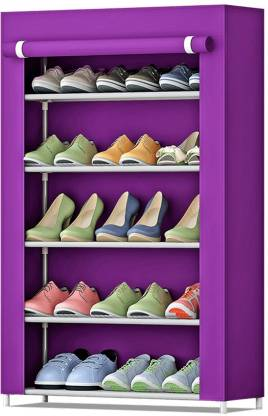 FurnCentral Fabric Shoe Stand   5 Shelves