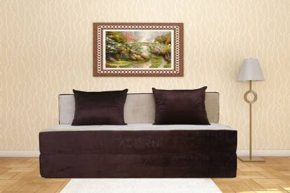ADORN INDIA Easy Double Foam Sofa Bed