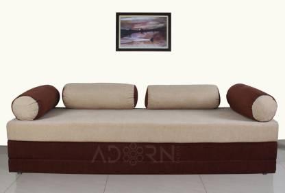 ADORN INDIA Easy Deewan Double Solid Wood Sofa Bed