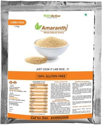 NUTROACTIVE AMARANTH Whole Natural Grains (Rajgira) Gluten Free, Jumbo Pack - 1.4 Kg