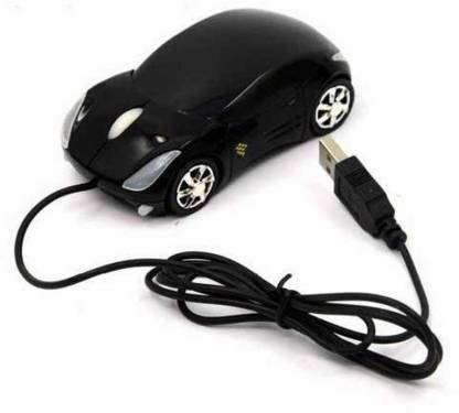 GADGET DEALS Car-Shaped (Colors may vary) USB Wired Optical Mouse