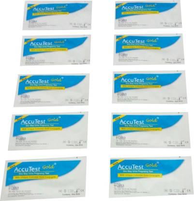 CADILA ACCU TEST (GOLD) ONE STEP URINE PREGNANCY TEST ( WITH UNIQUE COLLOIDAL GOLD CONJUGATE) Pregnancy Test Kit