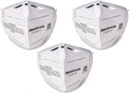 VEZUAL 3M 9004IN Mask for Dust / Pollution P1 Class (Pack of 3)