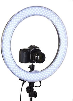 """Techzere Camera Photo / Video Dimmable Ring Light 18"""" With 240 Pcs LEDs.  5500K With Plastic Filter Set & DSLR / Mobile Adapter, Carry Bag Ring Flash  - Techzere : Flipkart.com"""