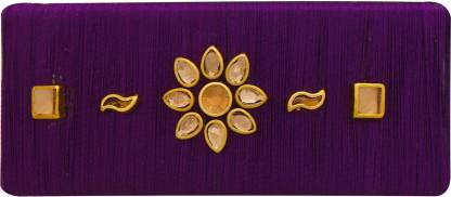 AccessHer Designer silk thread violet hair back clip/ accessory for women Hair Clip