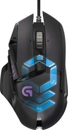Logitech G502 Proteus Spectrum RGB Tunable Wired Laser  Gaming Mouse