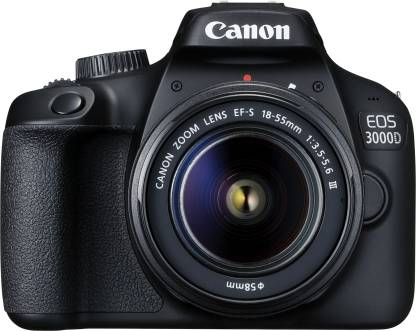 Canon EOS 3000D DSLR Camera 1 Camera Body, 18 - 55 mm Lens, Battery, Battery Charger, USB Cable