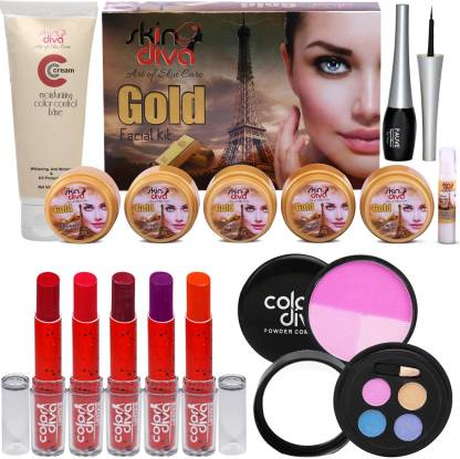 Color Diva Makeup & Skin Care Combo