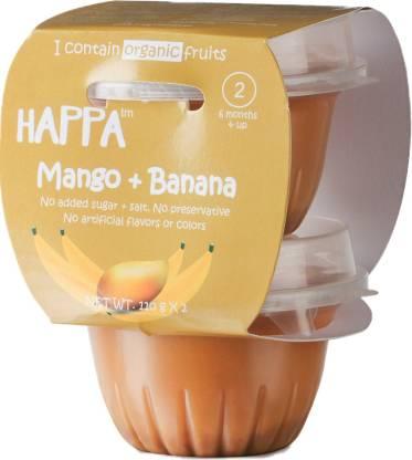 Happa Organic Mango + Banana Puree Cereal