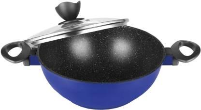 Pigeon Crest Diecast Cookware Kadhai 24 cm diameter 2.5 L capacity