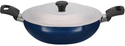 Renberg Blue Orchid Kadhai 24 cm diameter with Lid 2.1 L capacity
