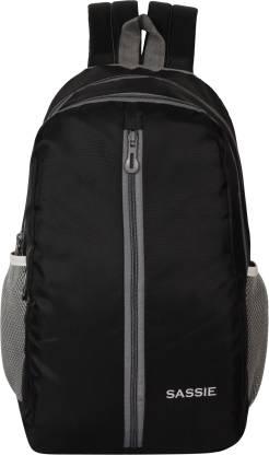 SASSIE Black School Bag II Genuine Backpack II Multiuse bag II Smart Tuition Bag (21 Ltr) (SSN-1060) Waterproof Backpack