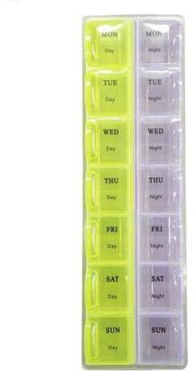Sukot 7 day 14 Case Day & Night Time Pill Storage Box Pill Organizer Pill Case Medicine Container Pill Box