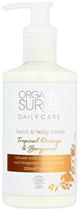 Organic Surge Tropical Orange Bergamot Hand Body Lotion