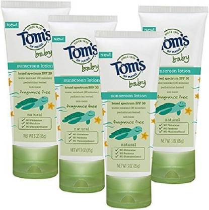 Tom's Of Maine Fragrance Free Ba Sunscreen lotion