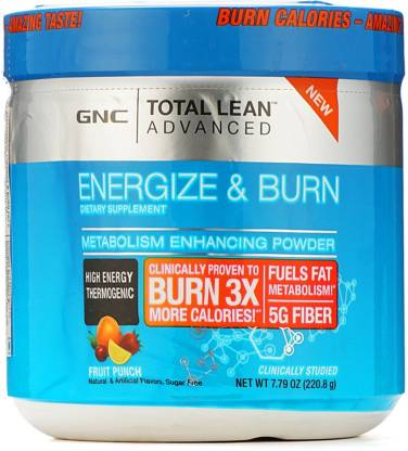 GNC Total Lean Energize and Burn - 220.8 gm (Fruit Punch)