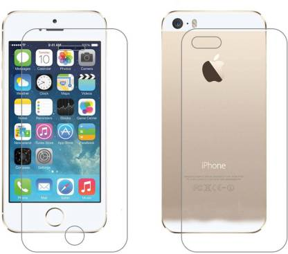 Case Creation Front and Back Tempered Glass for Apple iPhone 5s, 5G, 5S