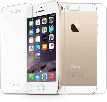 Case Creation Front and Back Tempered Glass for Apple iPhone SE, 5G, 5S
