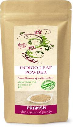 Pramsh Traders Premium Quality Indigo Leaves Powder 400gm , Black,Brown,Caramel,Cocoa ,Bronze,Dark Chocolate