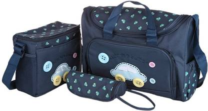 Baby Bucket 4 Pcs Nappy Changing Bags Sets - Navy Blue Baby Diaper Bag