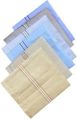 """Shop At Bargain Multi Color Raj Handkerchief Pack Of 6 [""""Multicolor""""] Handkerchief"""