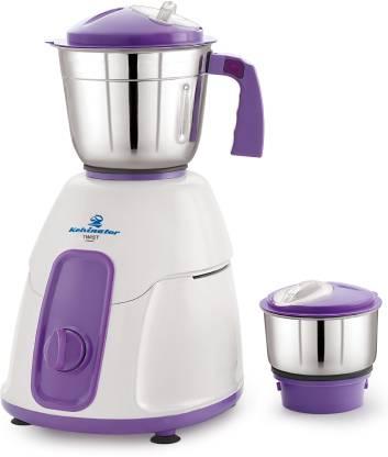 Kelvinator Twist-KMG 5021 500 Watt 2 Stainless Steel Jars 500 W Juicer Mixer Grinder (2 Jars, Purple, White)