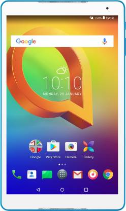 Alcatel A3 10 (VOLTE) 2 GB RAM 16 GB ROM 10.1 inch with Wi-Fi+4G Tablet (White, Blue)