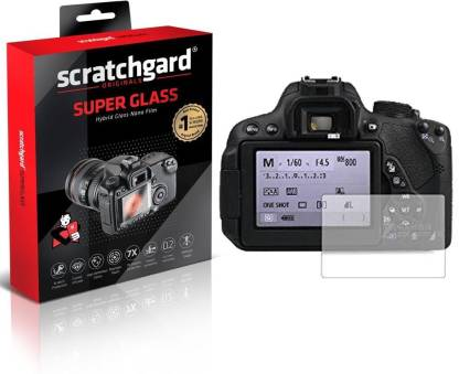Scratchgard Screen Guard for Canon EOS 200D Camera, Super Glass