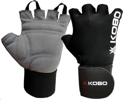 KOBO Weight Lifting with wrist support Gym & Fitness Gloves