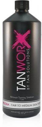 Tan Solutions Tanworx Dha Fair To Medium Spray Tan Worx Solution Tanning Solutions lotion