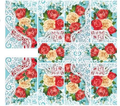 Imported Flower Lace Nail Art Stickers Water Transfer Slider Decals N808