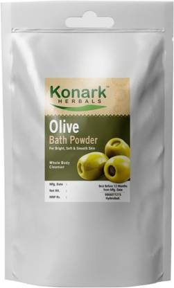 Konark HERBALS Olive Bath Powder, 100gms