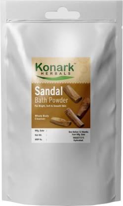 Konark HERBALS Sandal Bath Powder, 100gms