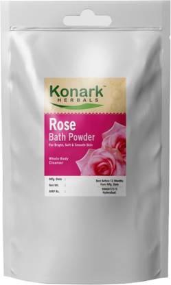 Konark HERBALS Rose Bath Powder, 100gms