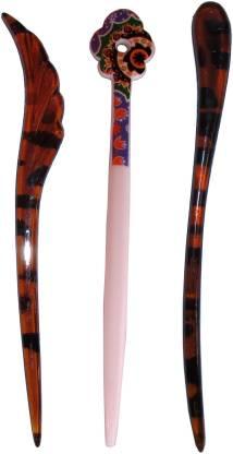 JNOONY Combo of Multi Color Juda Sticks Bun Stick
