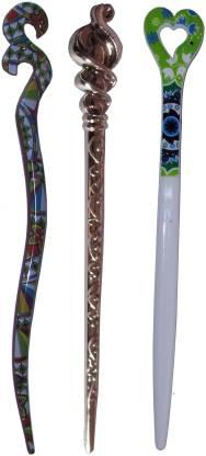 Kitty Combo of Multi Color Juda Sticks Bun Stick