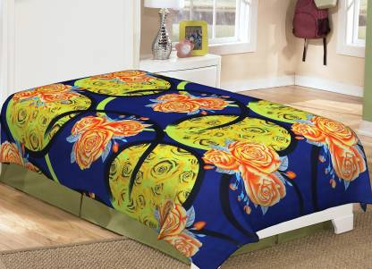 Metro Living 144 TC Microfiber Single 3D Printed Bedsheet