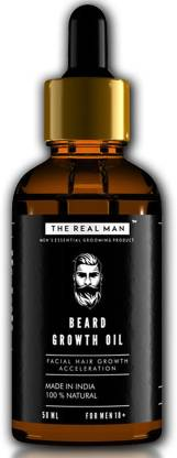 THE REAL MAN Beard Growth Oil by THE REAL MAN. Men's Mustache & Beard Growth Oil,100% Natural & Organic, Conditioner & Softener for Men,50ml. Beard Care With Best Beard Oil - For Best Beard Look. (50ml) Beard Oil