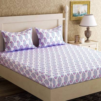 Zesture 104 TC Cotton Double Printed Bedsheet