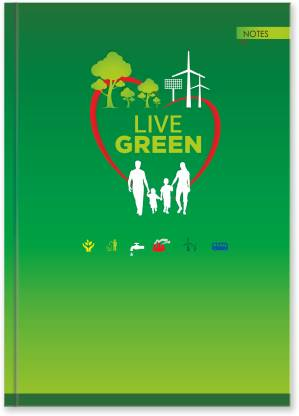 La kaarta Live Green Family B5 Size B5 Notebook Unruled 224 Pages